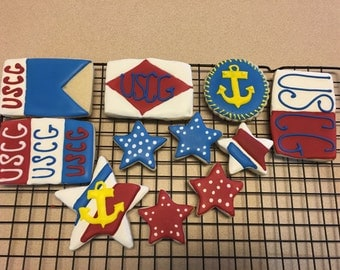 Custom cookies:) Coast guard!