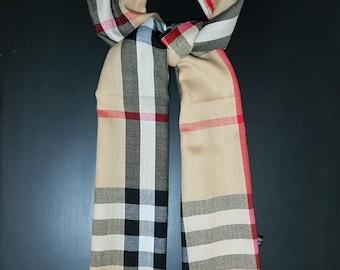 HandmadeTartan check Plaid Scarf Shawl  High quality soft luxurious  acrylic cashmere feel ,unisex winter and summer all season scarf