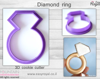 Diamond ring - 3D cookie cutter
