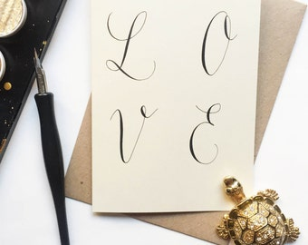 LOVE Valentines Greeting Card