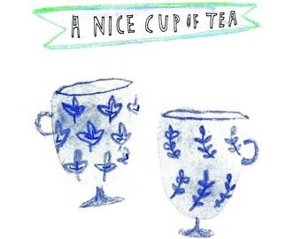 Nice cup of tea greetings card