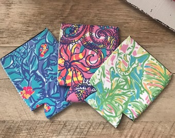 3 Pack Lilly Pulitzer inspired can coolers