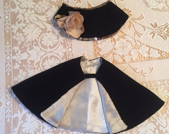 Doll's Vintage Handmade Cape and Hat