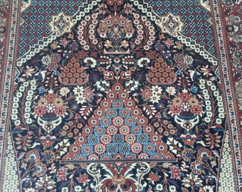 Antique persian rug kashan 6.10 × 4.7 ft 209 × 140 cm
