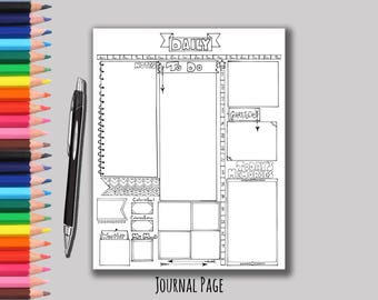 Daily Bullet Journal Page - Printable Bullet Journal Page - Printable Bujo - Planner Page - Organization - Organizer Page - Plan Your Day