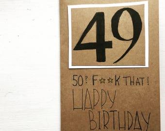 Birthday card, custom to any number