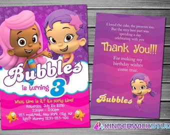 Bubble Guppies Birthday Invitation. Bubble Guppies Invitations. Bubble Guppies Invitation. Bubble Guppies Birthday Party
