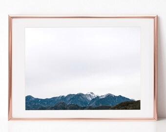 Winter, Mountain View, Landscape Photography, Japan, Download Digital Photography, Print, Downloadable Image, Printable Art, Artwork