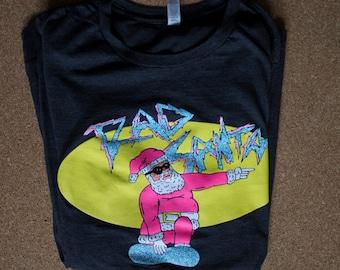 RAD Santa Long Sleeve Screen Printed Shirt