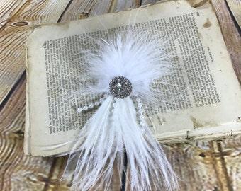 handmade bride hair accessory.
