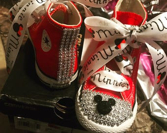 Minnie Mouse bedazzled toddler converse  sneakers