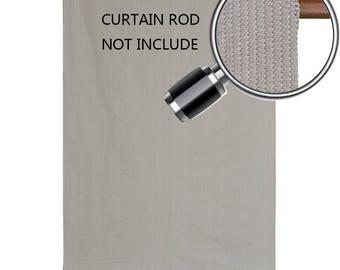 Custom Sized Sun Shade Rod Pocket Panel for Patio,Awning, Window Cover, Instant Canopy Side Wall, Pergola or Gazebo - Smoke Grey