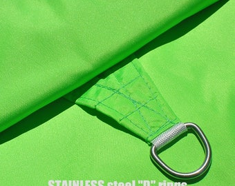 Custom Sized Square Waterproof Woven Sun Shade Sail in Vibrant Colors - Lime Green