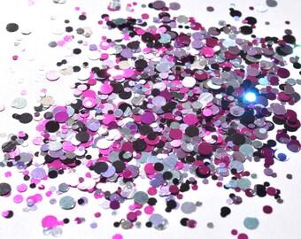 100 g/93,33 EUR - bag glitter sequins points dot mix craft glitter new