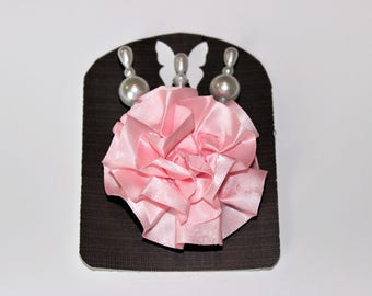 Pink Decorative Stick Pin Sets For Scrapbooking, Mini Albums, & Card Making