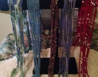 Women's Crocheted Bolla or Tie Neck Scarf or Belt