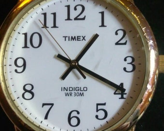 Men's Timex indiglo watch with easy read numbers