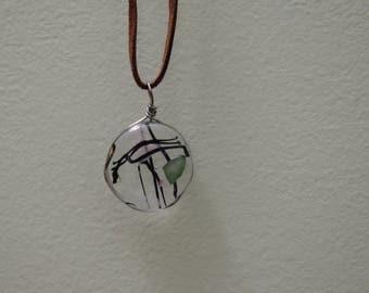 Longitude, Latitude glass necklace