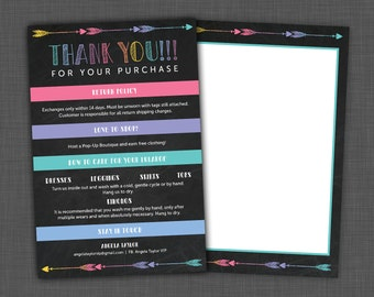 Lularoe Thank You Card - Lularoe Care Card with Thank You Note, custom
