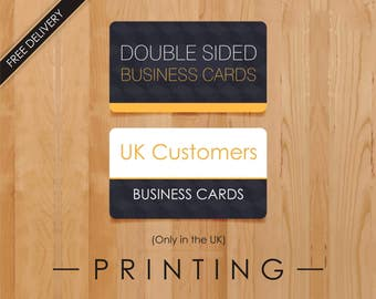 Business Cards Printing Service, Print Business Card, UK Business Cards, Only for UK Customers, Free Delivery Visiting Cards across the UK
