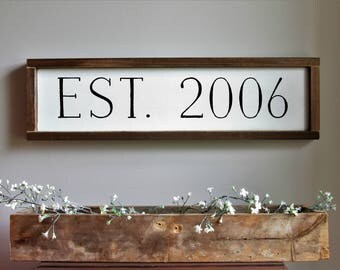 Established Year Wood Sign | Personalized Wedding Gift