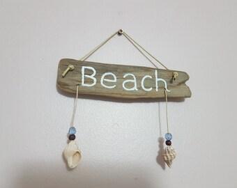 """Driftwood sign """"beach"""""""