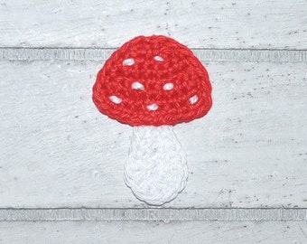 Mushroom - Toadstool - lucky - application - patch - crochet