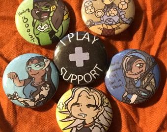 Support Overwatch Pins