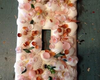 Decorative Sea Glass Switch Plate