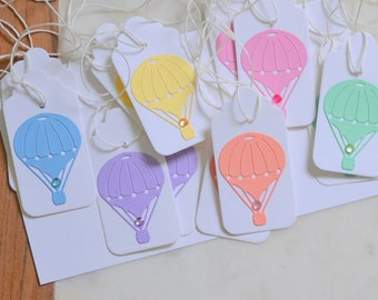 Hot Air Balloon Party, Up Up and Away Party, Goodie Bag Tags, Kids Party Tags, Hot Air Balloon Shower, Balloon Swing Tags, Party Bag Tags