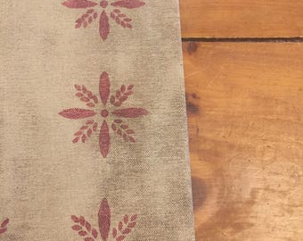 Primitive Colonial Starburst Floor Cloth 5x7 floorcloth