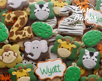 Safari Birthday Cookies - 1 Dozen
