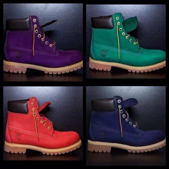 Items similar to Custom Colored (dyed) Timberlands Boots ...