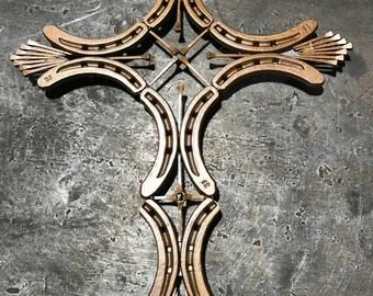 Horseshoe Cross Decor
