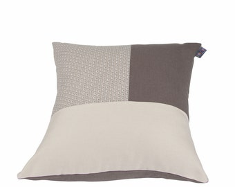 Cushion cover brown pattern gray white and black