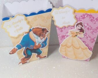 Beauty and the Beast Pop Corn Boxes Or Candy