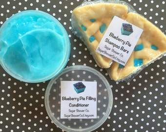 Blueberry Pie Shampoo Bars & Hair Conditioner - Shampoo Bar- Pie Filling Conditioner - Hair Care - All Natural
