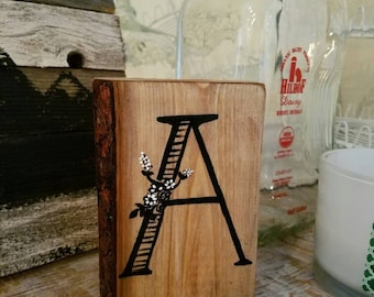 Chunky wood letter