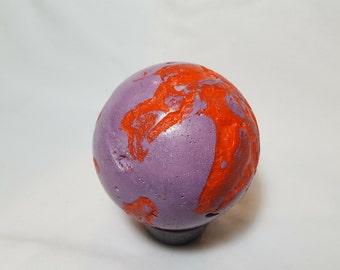 Concrete sphere Purple and Orange
