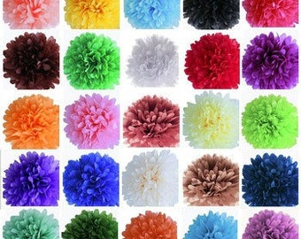 10pcs Tissue Paper Pom Poms  Ships within ONE Business Day - Tissue Poms, PomPom, Tissue Pom Poms, Choose Your Colors!