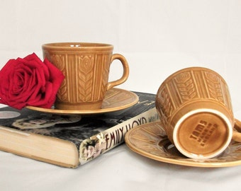 Tam's  2 tea cups and saucers.1970's.Coffee cups.Gifts for her.Made in England.