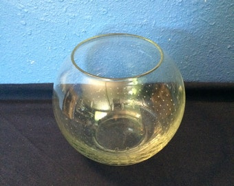 Vintage Art Glass Rose Bowl