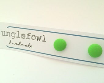 Retro Vintage Inspired Lime Green Studs