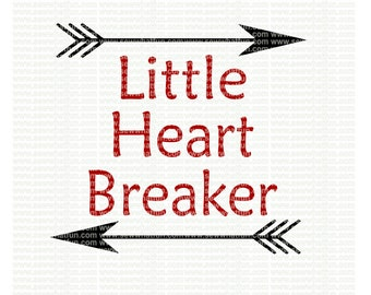 Little Heart Breaker with Arrows SVG, cutting file, Arrows, vinyl file, svg, valentines,holiday, svg file cameo file, heart breaker, cricut