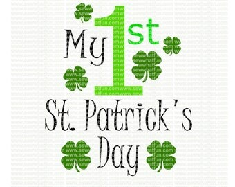 First St Patricks Day SVG, cutting file, vinyl file, svg, st patricks, svg file, cameo file, cricut file, cricut design, 1st st patricks day
