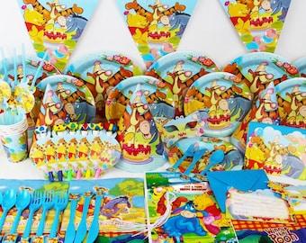 Winnie the Pooh Birthday Party Supplies tableware set