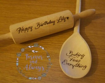Gifts for children, Engraved Rolling Pins, Children's toys, Wooden Toys, Play doh, Great British Bake Off, Gifts for Children