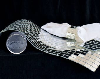 Vintage Mirror Mosaic Placemats, Coasters & Napkin Rings by Tomorrow Designs Limited - 10 Place Settings