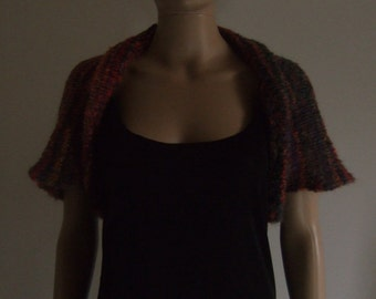 The mini-cape in beautiful multicolor mohair soft wire