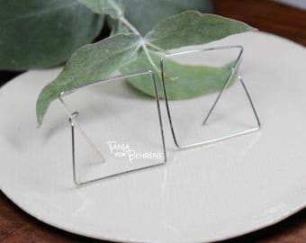 3D Square 'Hoop' Earrings
